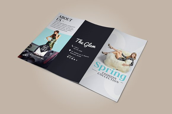 fashion tri fold brochure brochure templates creative market