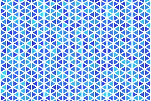 Blue triangles on white pattern
