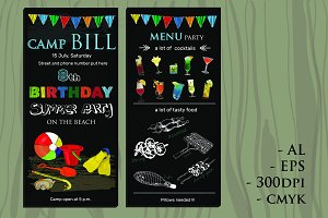 Invitation for Birthday with Menu