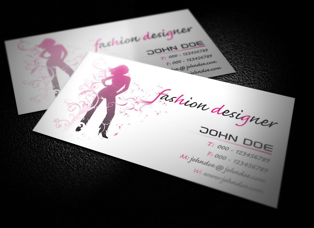 Fashion designer business card graphics creative market colourmoves