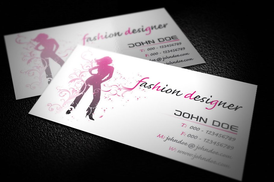 Fashion Designer Business Card Free Vector N Clip Art