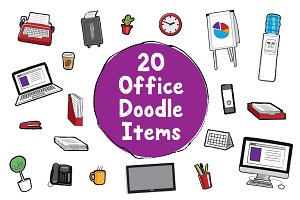 20 Office Doodle Items