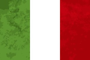 True proportions Italy flag