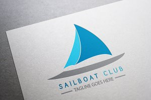 Sailboat club logo