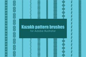 Kazakh pattern brushes for AI