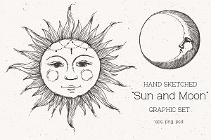 """Sun and Moon"" Graphic Set"