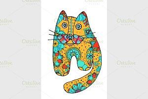 Cute doodle cat.