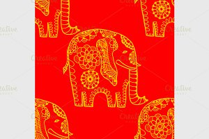 Hand Drawn Ethnic Elephant