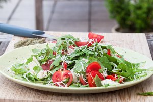 Fresh arugula's salad