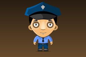 Cartoon Police Officer