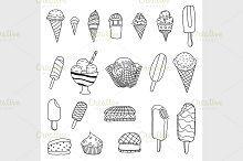 Collection of vector ice cream
