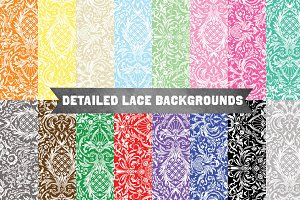 Highly Detailed Lace Pattern