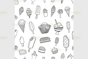 Seamless ice cream pattern