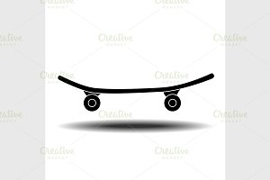 Skateboard flat icon