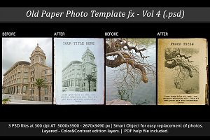Old Paper Photo Template FX Vol 4