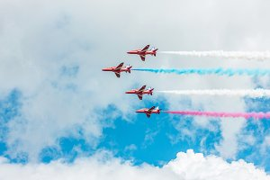 Colorful Smoke with Planes