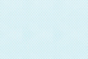 Cyan color isometric grid
