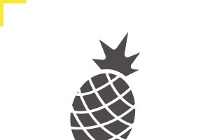 Pineapple icon. Vector