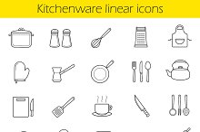 Kitchen utensils icons. Vector