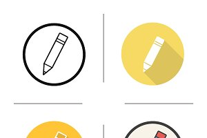 Pencil icons. Vector