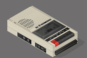 Vintage audio cassette recorder