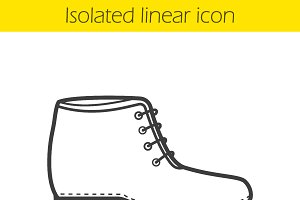 Boot icon. Vector