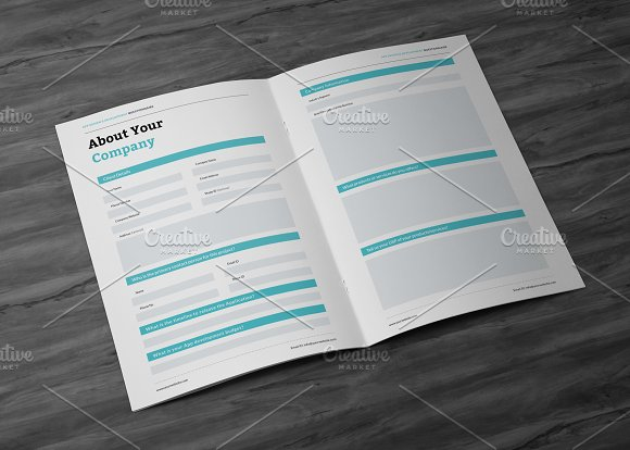 App design questionnaire stationery templates creative market reheart Choice Image