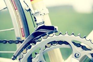 vintage bike gear-wheel