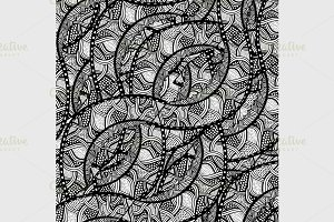 sketchy seamless pattern