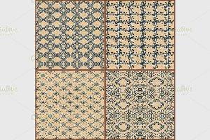 Ceramic tile pattern golden yellow