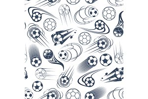 Soccer and football seamless pattern