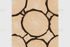 Cut log butt seamless pattern