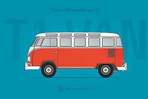 VW T1 VAN blueprint