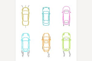 Car Top View Icons