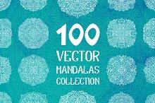 100 Vector Mandalas Round Ornaments