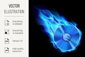 Burning blue CD