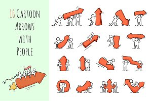 Cartoon arrows with People