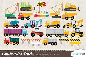 Construction Trucks Clipart