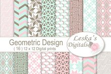 Geometric Digital Paper Patterns