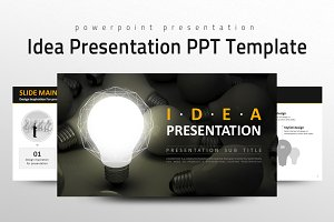 Idea Presentation PPT Template