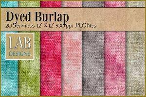 20 Dyed Burlap Fabric Textures