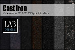 10 Seamless Cast Iron Fabric Texture