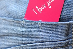 Jeans with the note