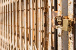 master key on old iron gate