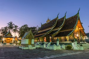 Wat Xieng thong temple at Laos