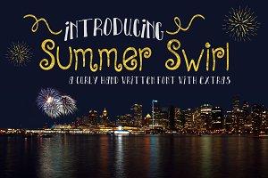 Summer Swirl, Curly Handwriten Font