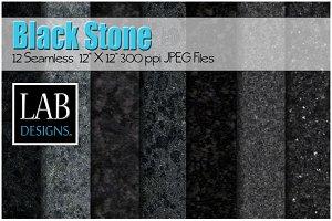 12 Seamless Black Stone Textures