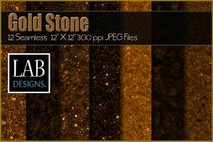 12 Seamless Gold Stone Textures
