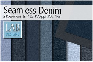 24 Seamless Denim Jean Textures