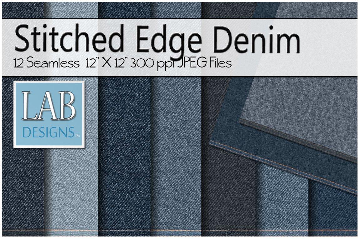 12 stitched edge denim jean textures textures creative market